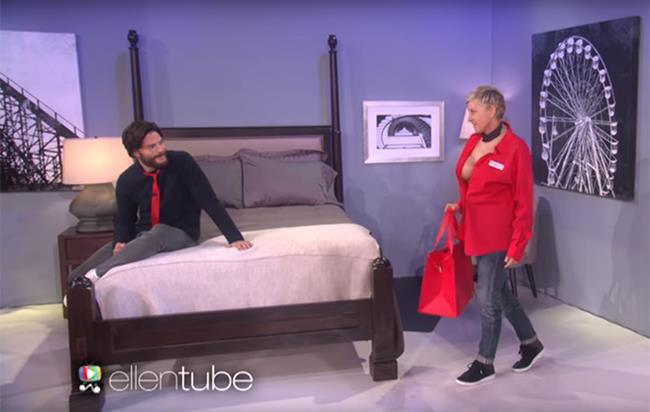 Jamie Dornan ed Ellen DeGeneres: la parodia di Cinquanta Sfumature di Nero