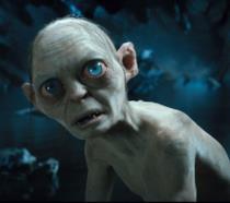 Gollum in una scena de Il Signore degli Anelli