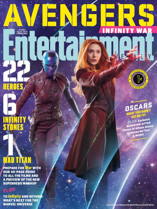 Nebula e Scarlet Witch su una delle variant cover di EW