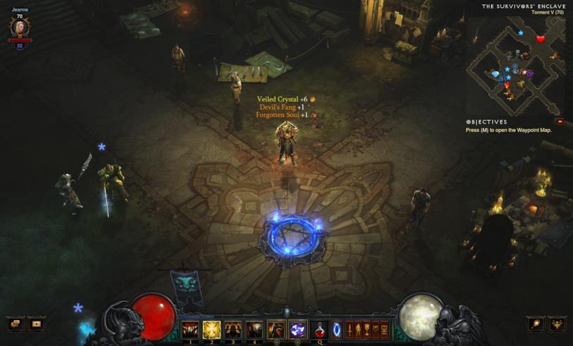 Un'immagine da Diablo III