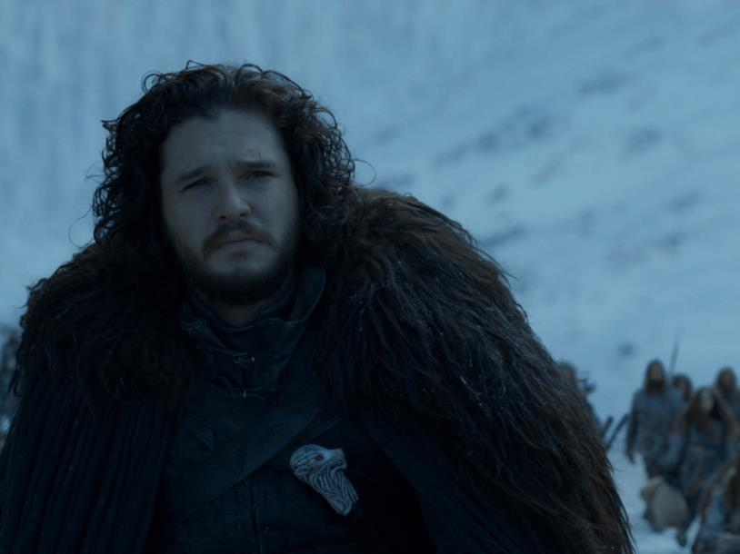 Jon Snow nell'ultimo episodio di Game of Thrones