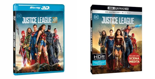 Le edizioni Blu-ray 3D e 4K Ultra HD di Justice League