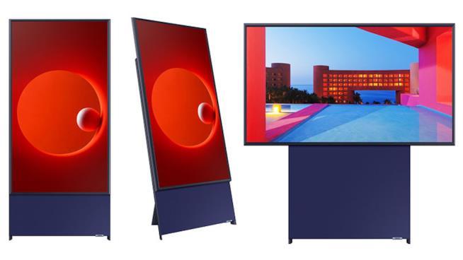 Immagine promozionale di Sero, la TV verticale di Samsung