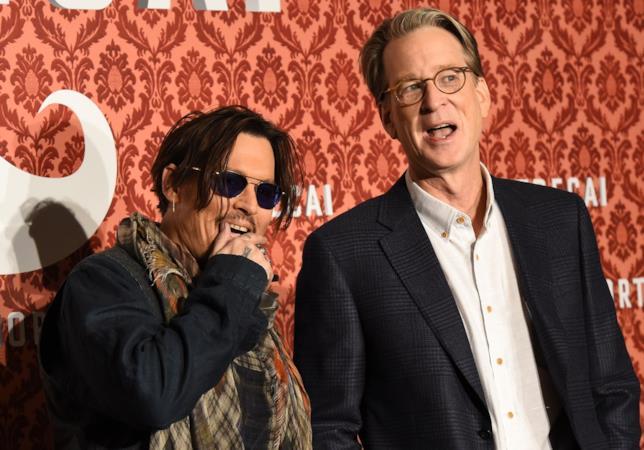 Johnny Depp e David Koepp  a un evento