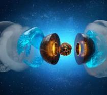 Una rappresentazione dei corpi celesti Urano e Nettuno