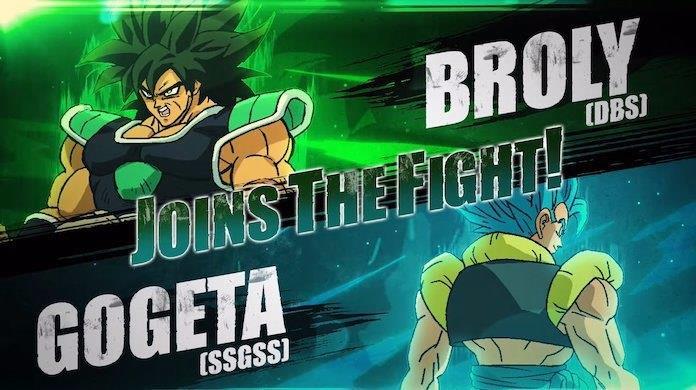 Dragon Ball FighterZ Broly Gogeta ultimi personaggi