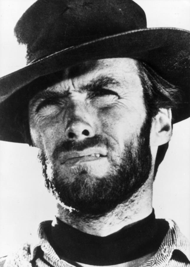 Clint Eastwood in primo piano in un film di Leone