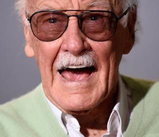 Un primo piano di Stan Lee