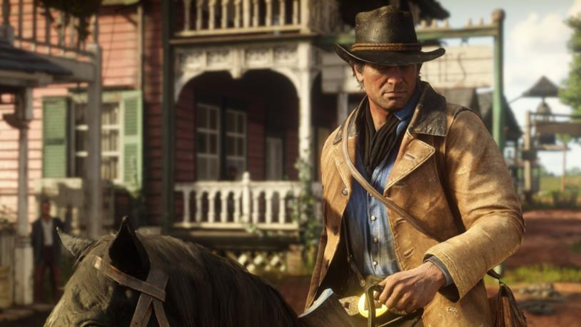 Uno screenshot del protagonista di Red Dead Redemption 2