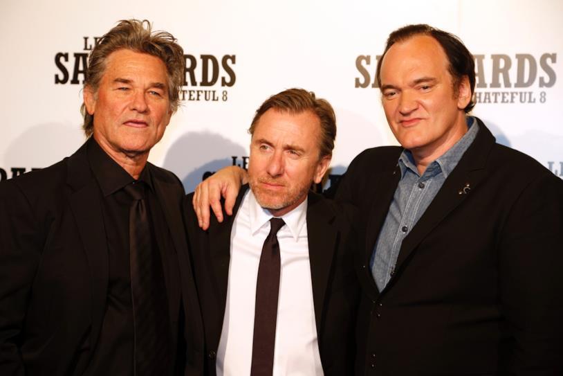 Kurt Russel, Tim Roth e Quentin Tarantino in una foto recente