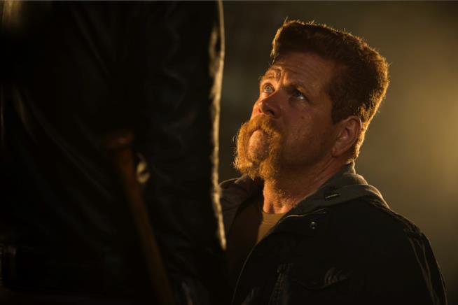 Un attimo prima che Negan colpisse violentemente Abraham