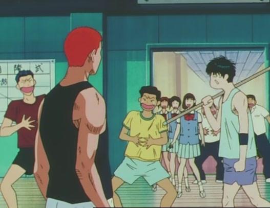 Miyagi si burla di Sakuragi