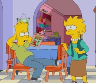 Nella clip Homer e Lisa parlano da Boe