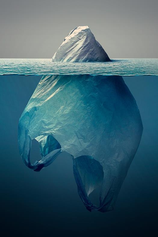 L'illustrazione di Jorge Gamboa intitolata Iceberg Plastico