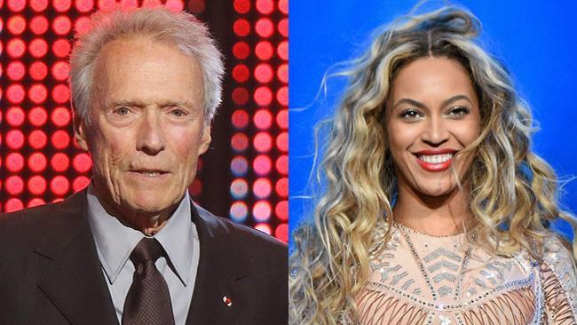 Clint Eastwood e la cantante Beyoncé