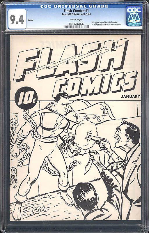 Flash Comics #1 nell'involucro da collezione, con i vari rating per i collezionisti