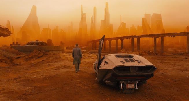Ryan Gosling in una scena di Blade Runner 2049