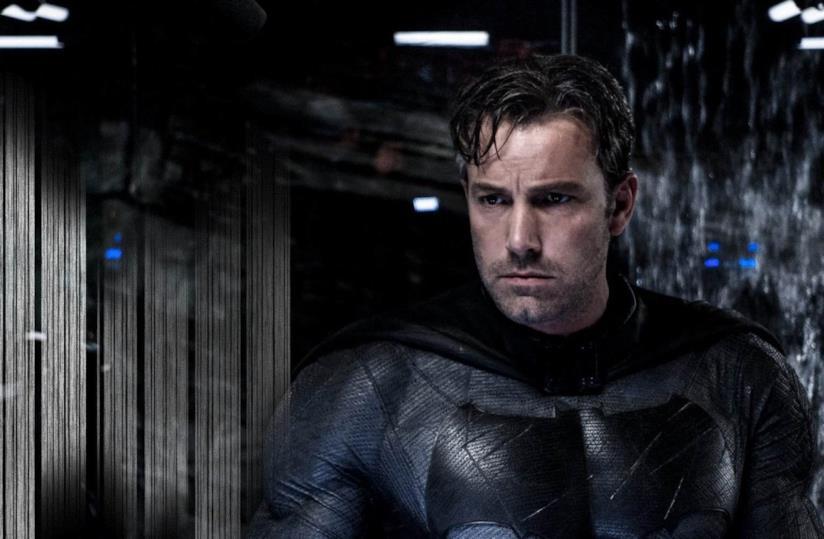 Ben Affleck con il costume di Batman
