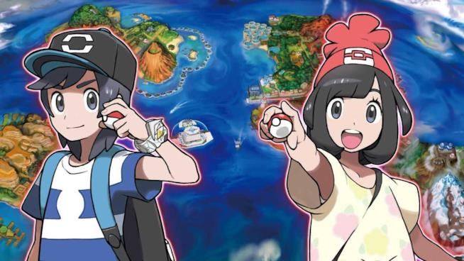 I due allenatori di Pokémon Sole e Luna in uno screenshot ufficiale