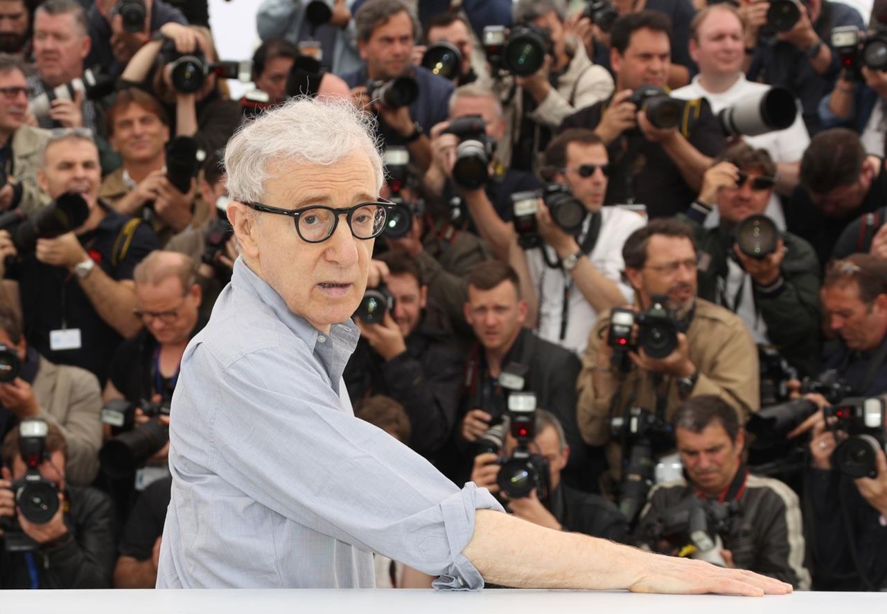 Woody Allen al photocall di Café Society