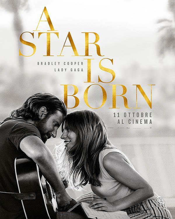 Bradley Cooper e Lady Gaga in bianco e nero nel poster di A Star Is Born