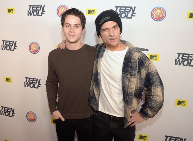 Gli attori Dylan O'Brien e Tyler Posey a un evento per Teen Wolf