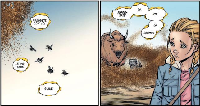 Vignette di Animosity 3 con il bisonte e il gatto