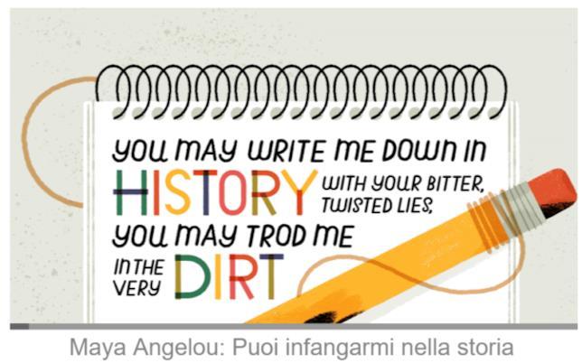 Il video Doodle di Google dedicato alla poesia I Still Rise di Maya Angelou
