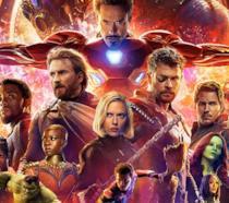 Un'immagine dei Vendicatori nel poster di Avengers: Infinity War