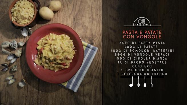 La ricetta della pasta e patate con le vongole