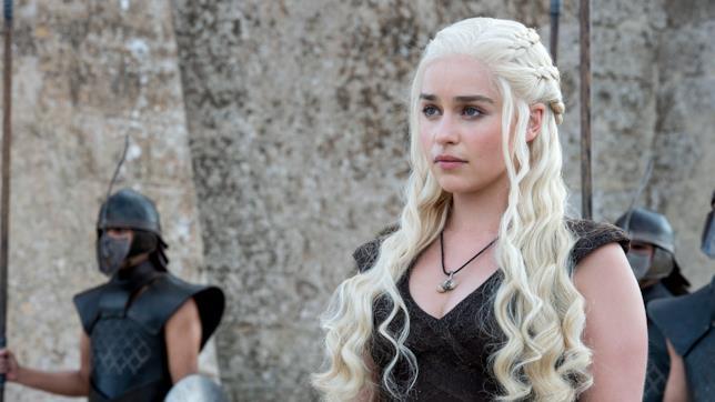 Daenerys Targaryen in una scena di Game of Thrones