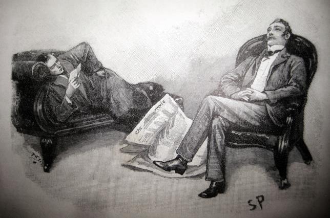 Una raffigurazione in uno degli libri di Sir Arthur Conan Doyle
