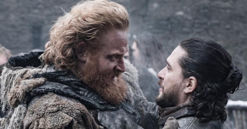 Kristofer Hivju e Kit Harington in Game of Thrones 8x04