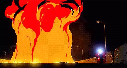 La celebre moto rossa di Akira