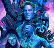 La locandina ufficiale di Guardiani della Galassia Vol. 2