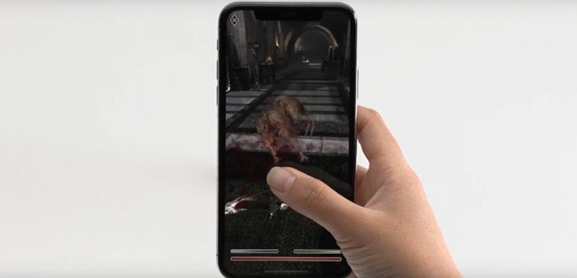The Elder Scrolls Blades su un iPhone X