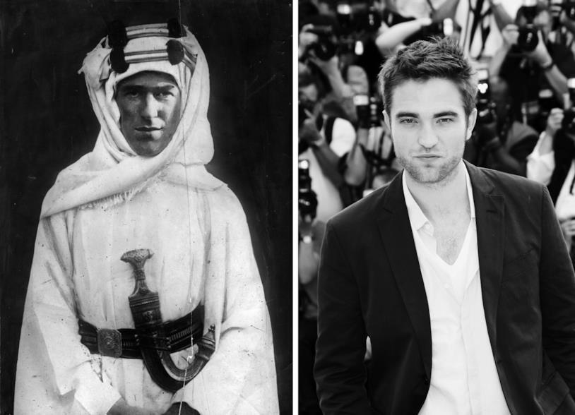 Un confronto tra il vero Lawrence d'Arabia e Robert Pattinson