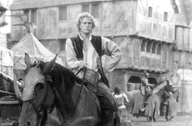 Heath Ledger sul set de Il destino di un cavaliere