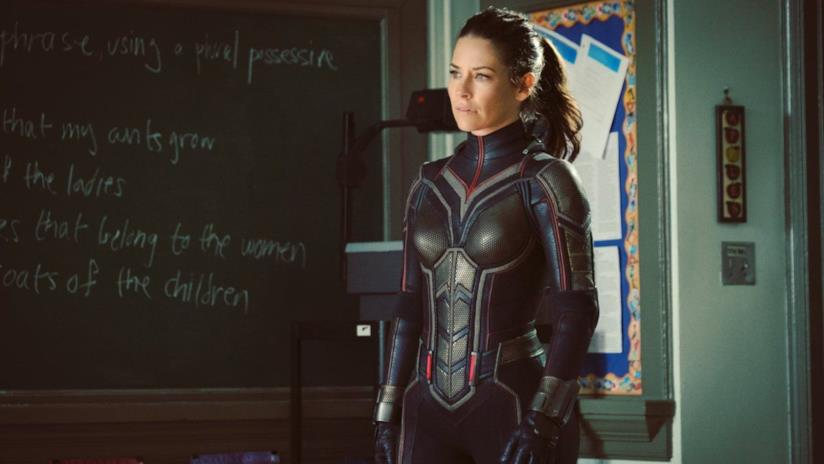 Un'immagine di Ant-Man and The Wasp con Evangeline Lilly