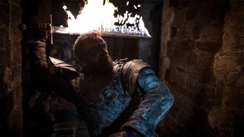 GoT 8x03: Beric Dondarrion durante la battaglia di Grande Inverno