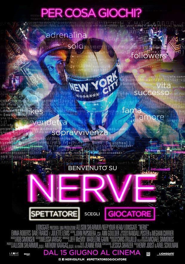 Il poster italiano di Nerve