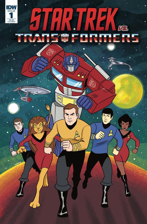Copertina crossover Star Trek vs Transformers