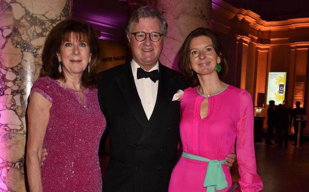 Il conte Roderick Francis Arthur Balfour con la moglie e la filgia Lady Willa Franks al Royal Albert Hall