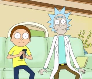 Rick e Morty guardano insieme la TV interdimensionale