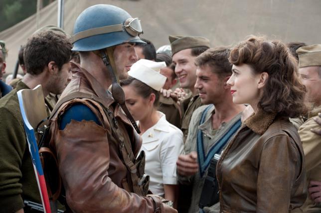 Steve Rogers e Peggy Carter in Captain America - Il primo Vendicatore
