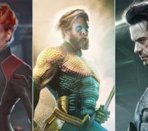 Gal Gadot/Vedova Nera, Chris Hemsworth/Aquaman e RDJ/Batman: le fanart di BossLogic