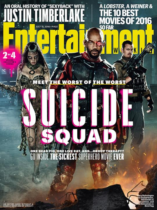 La cover 2/4 di Entertainment Weekly dedicata a Suicide Squad