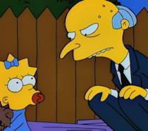 Il signor Burns e Maggie Simpson in L'Orsetto del Cuore