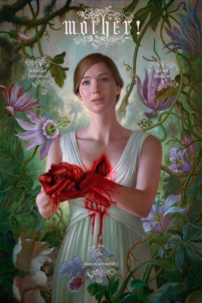 Jennifer Lawrence nel poster ufficiale di Mother!
