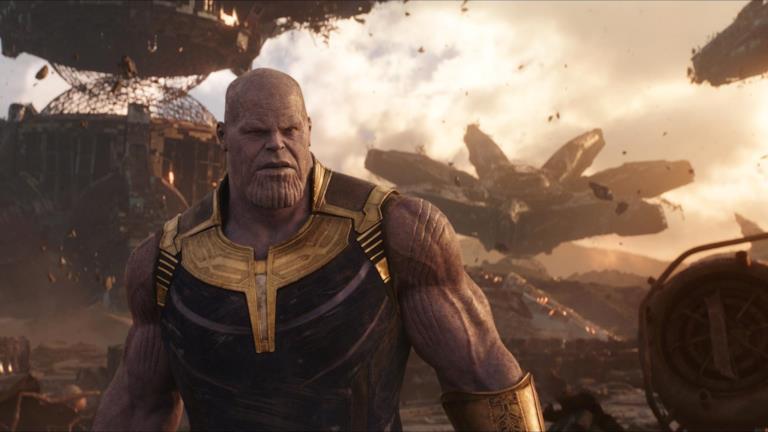 Thanos sul pianeta Titano in Avengers: Infinity War